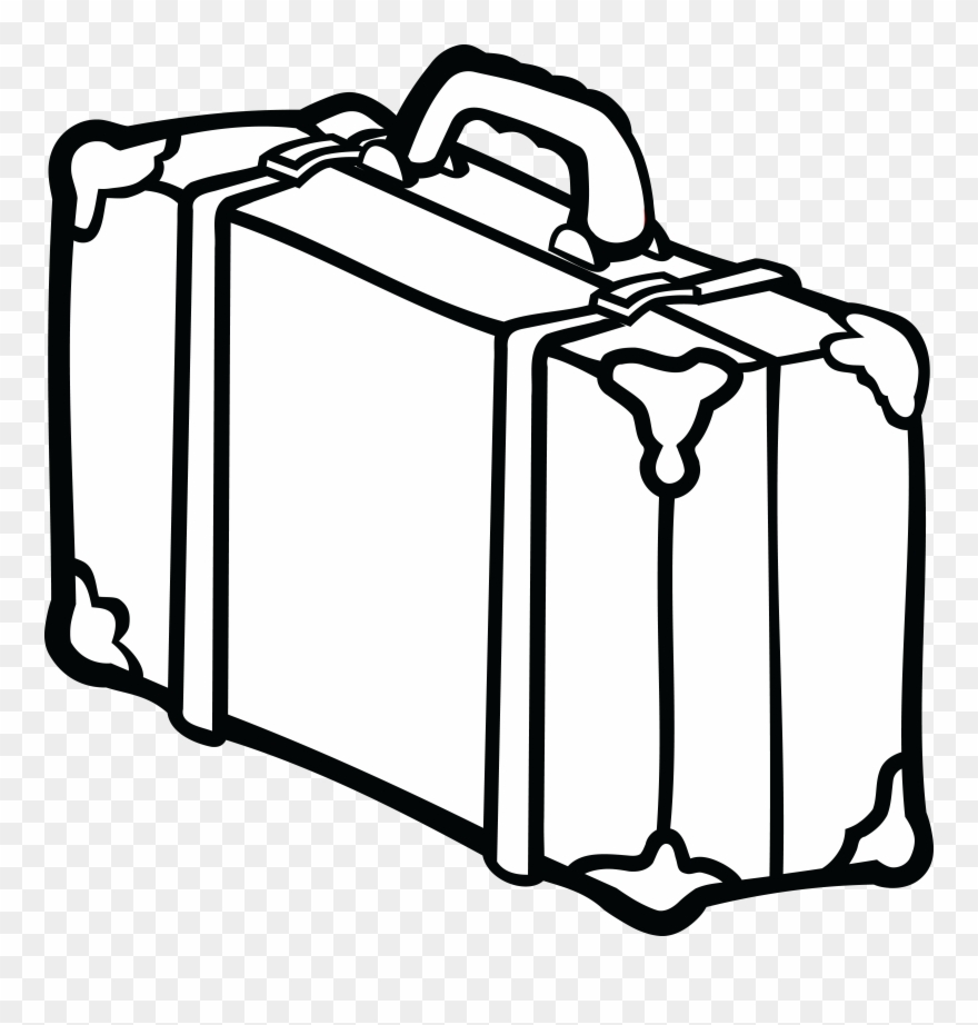 880x922 Suitcase Baggage Line Art Drawing Travel