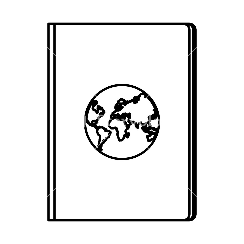 1000x1000 Travel Passport Icon Drawing In White Background Vector