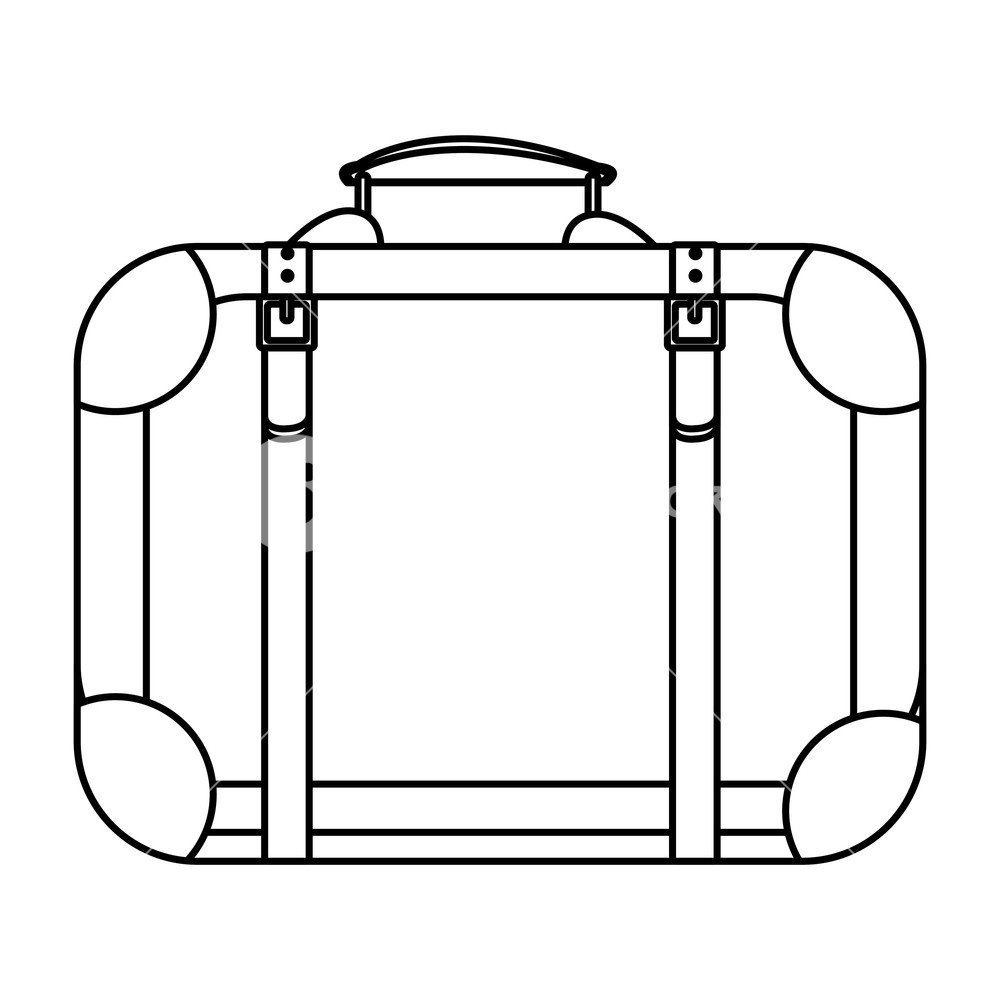 1000x1000 Travel Suitcase Icon Isolated Drawing Vector Illustration Graphic