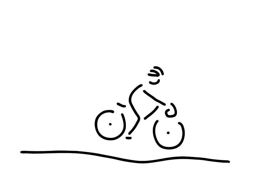 900x635 Bicycle Travel Racing Wheel Driver Drawing