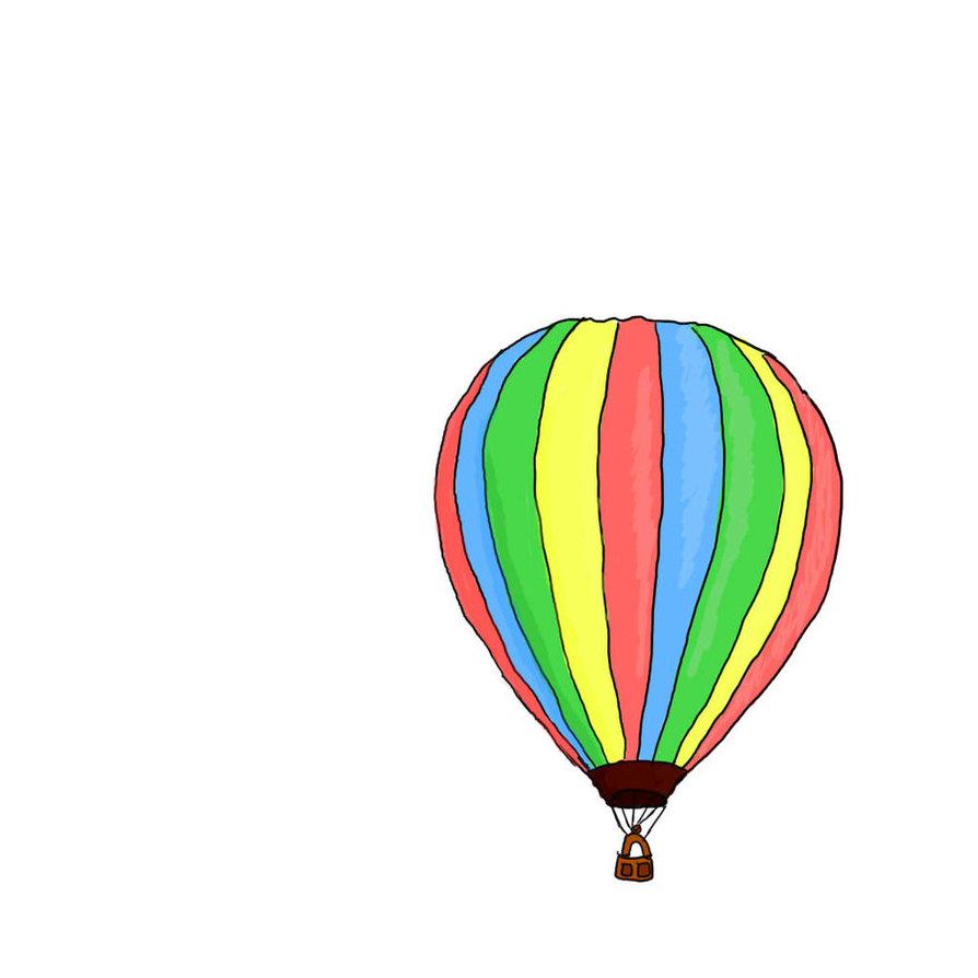 894x894 Hot Air Balloon Drawing Tumblr