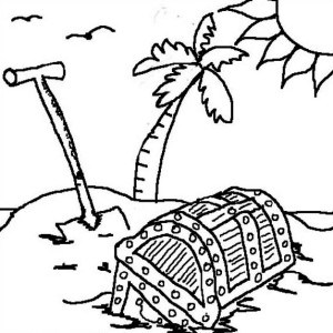 300x300 open empty treasure chest coloring page empty treasure chest