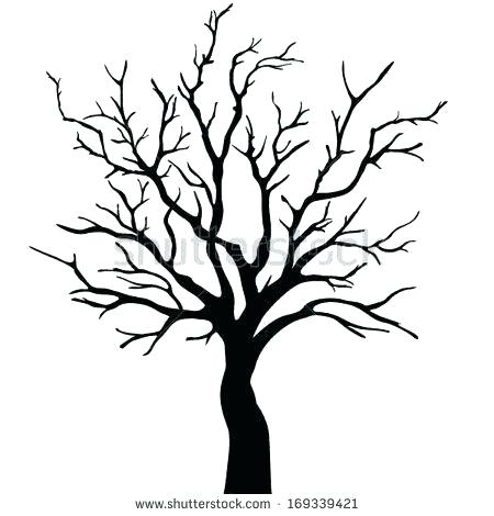 450x470 outline of a tree with branches tree branches outline drawing