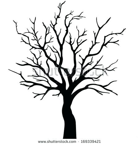 450x470 bare tree drawing bare trees drawing drawing tree branch clip art