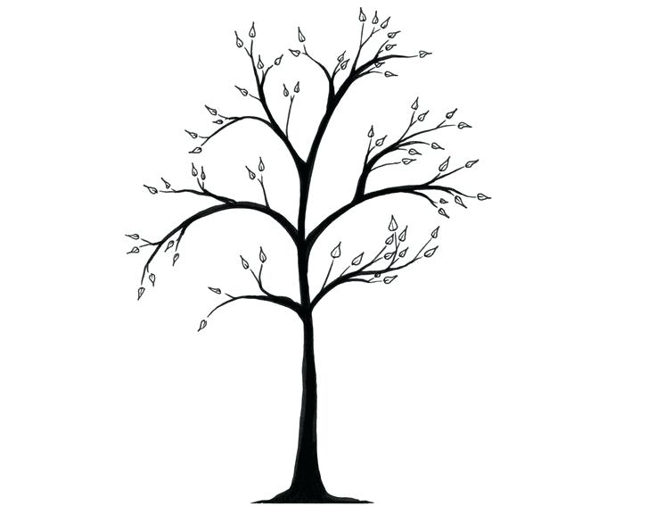 736x567 winter tree drawing winter tree branch cling rubber stamp winter
