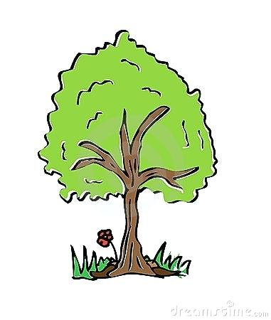 381x450 colorful tree drawing cartoon drawing tree with colorful pine tree