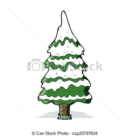 449x470 snowy tree drawing evergreen trees in snow free clip art snowy