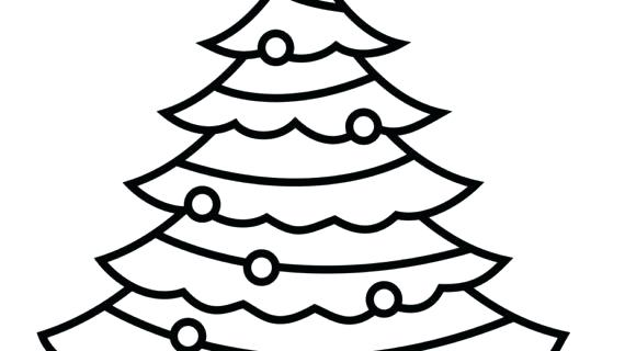 570x320 xmas tree outline tree clip art outline tree cut out template