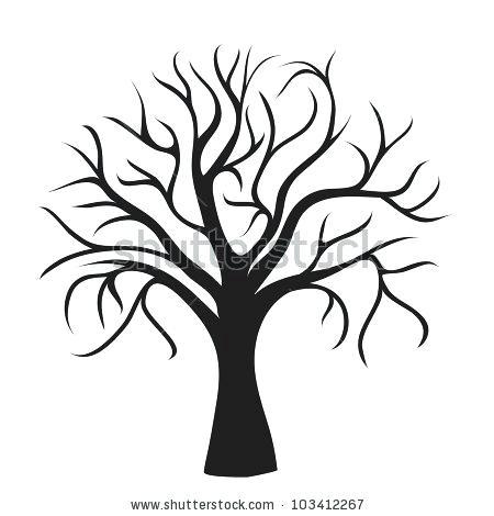 450x470 oak tree outline bare oak tree oak tree outline silhouette