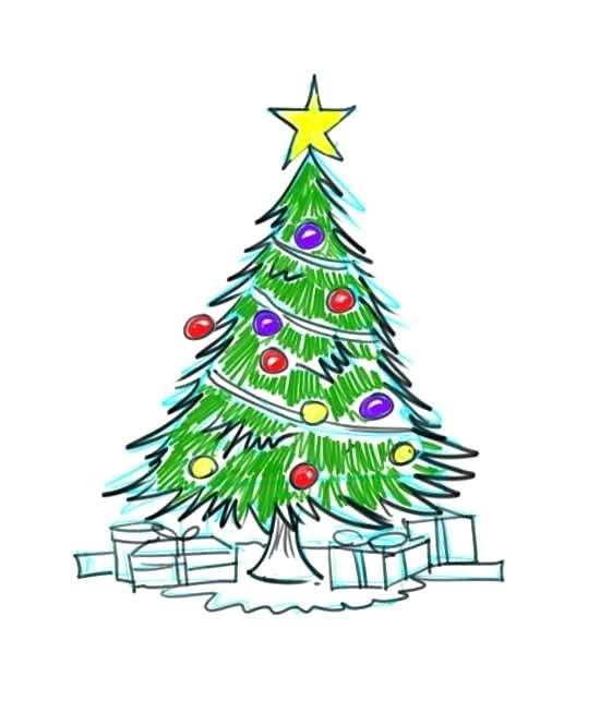 550x643 xmas tree drawing how to draw a tree step christmas tree drawing