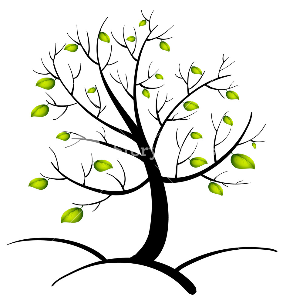 933x1000 Illustration Of The Tree Of Life Royalty Free Stock Image