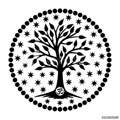 500x500 The Tree Of Life With The Aum Om Ohm Sign In The Center
