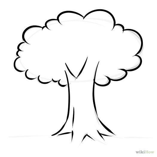 525x525 Tree Outline Clip Art