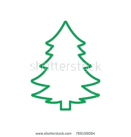 450x470 xmas tree outline drawing of a tree tree outline tree drawing