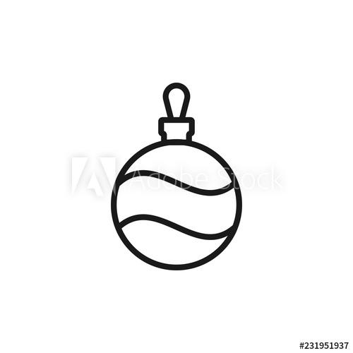 500x500 Christmas Tree Ball Linear Icon Thin Line Illustration Xmas Tree