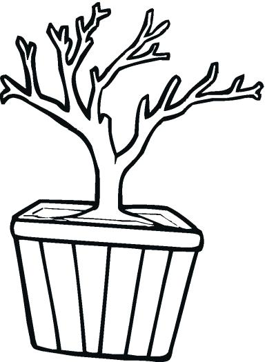 384x525 tree trunk outline two tree trunk outline drawing