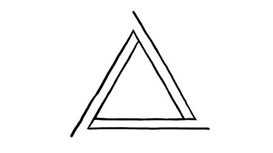 549x309 Draw An Impossible Triangle Things To Wear Tattoos, Triangle