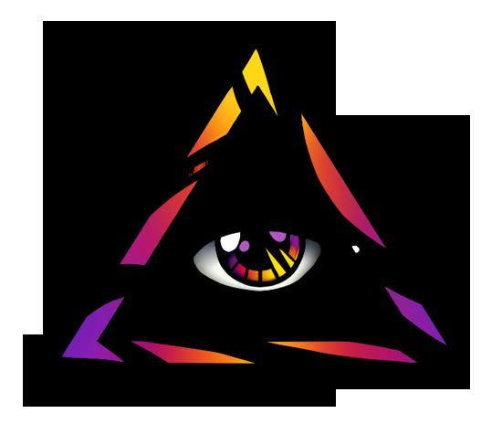 550x464 Flaming Triangle Eye Tattoo Design