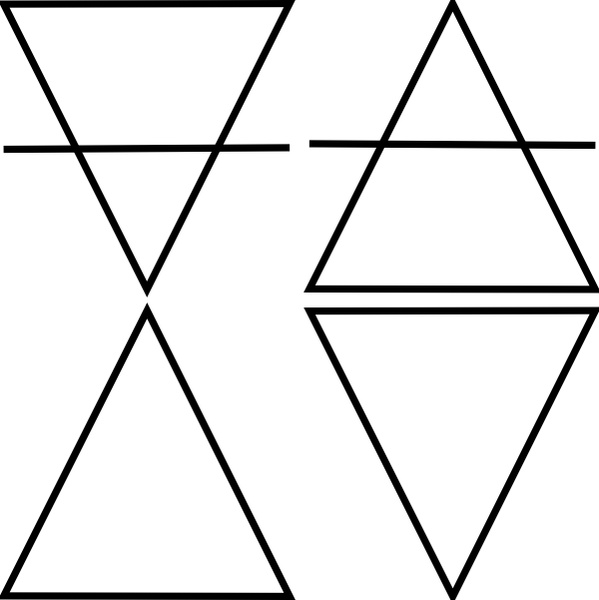 599x600 Four Geometric Triangle Symbols Clip Art Free Vector In Open