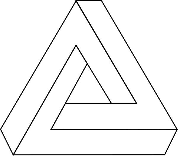 600x526 Impossible Triangle Free Vector In Open Office Drawing