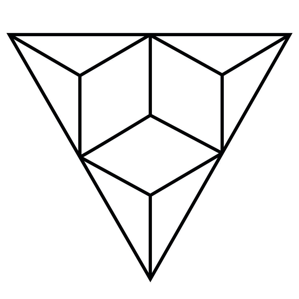 1181x1181 Origami Paper Triangle Tattoos