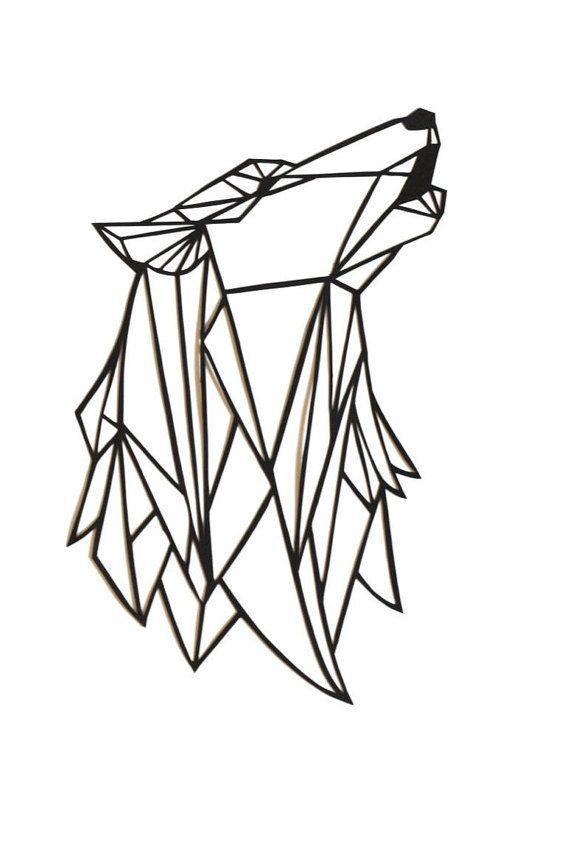 570x853 De Recherche D'images Pour Loup Origami Dessin Art