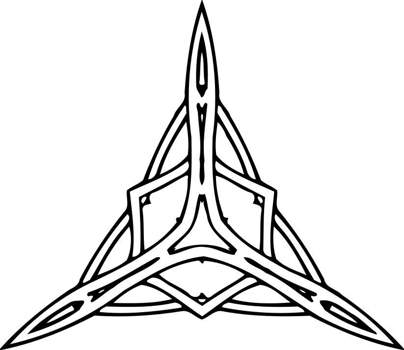 823x713 Triangular Ornament Clipart