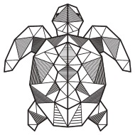 190x190 Turtle Geometric Polygon Gift Idea Triangle Animal Iphone