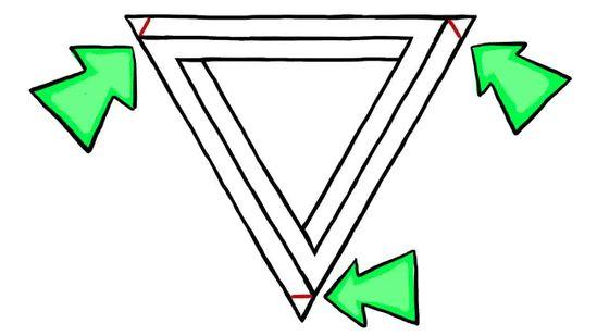 Triangle Illusion Drawing