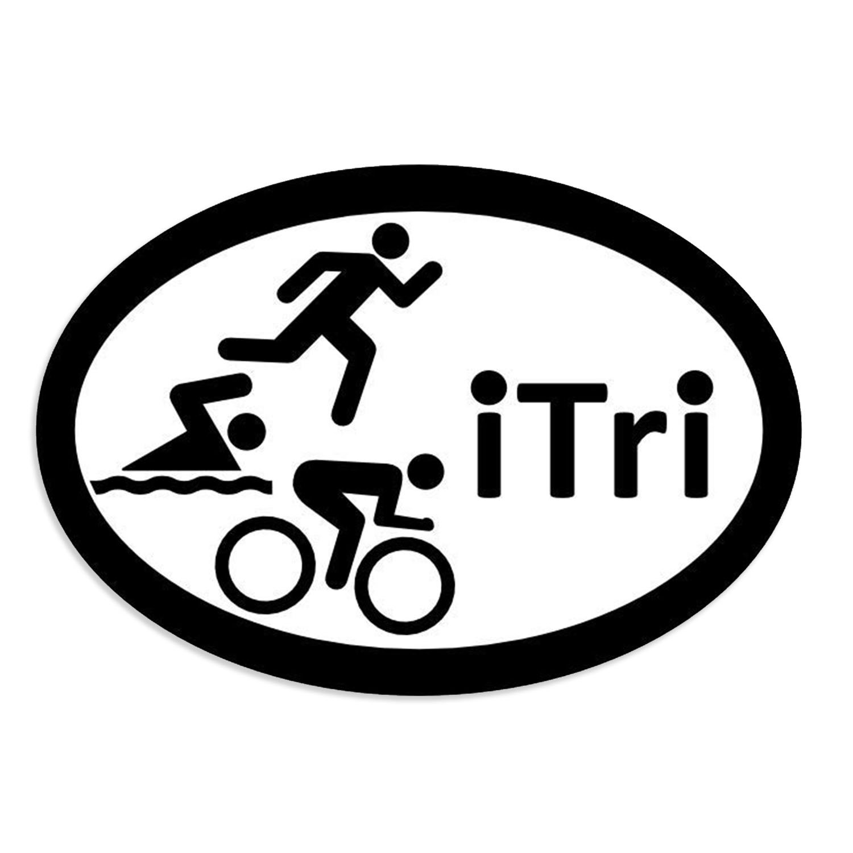 1500x1500 itri bike swim run triathlon white oval car magnets oval etsy