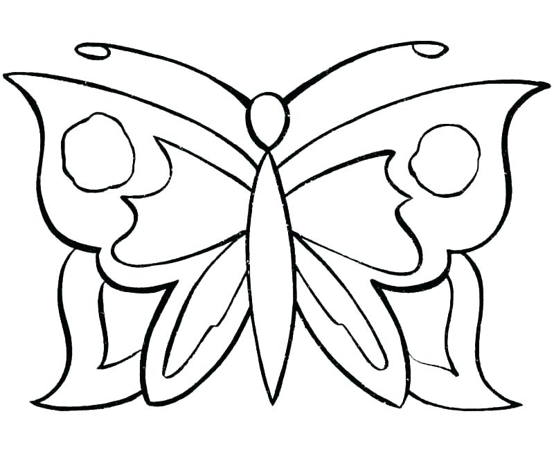 Tribal Butterfly Drawing
