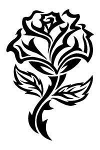 200x300 Tribal Art Tribal Rose Tattoo Designs