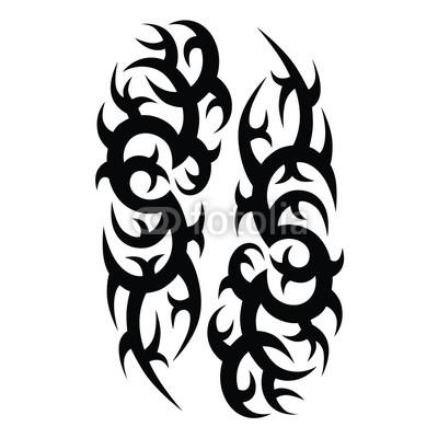 400x400 Tattoos Ideas Designs Tribal Tattoo Pattern Vector Illustration