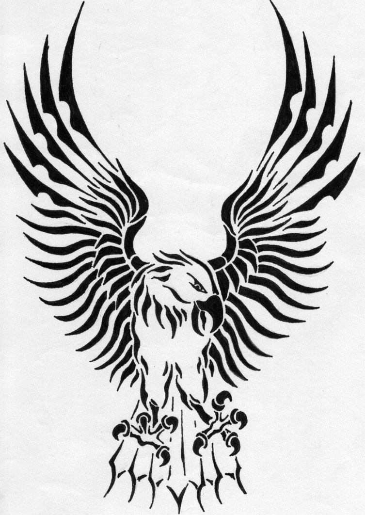 Tribal Eagle Drawing