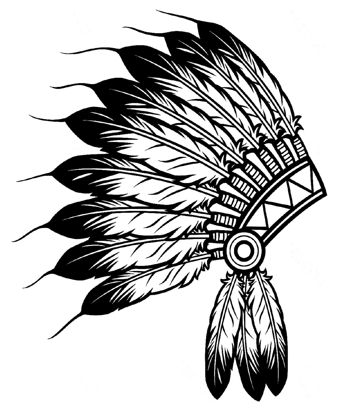 Tribal Feather Drawing