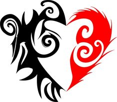 Tribal Heart Drawings