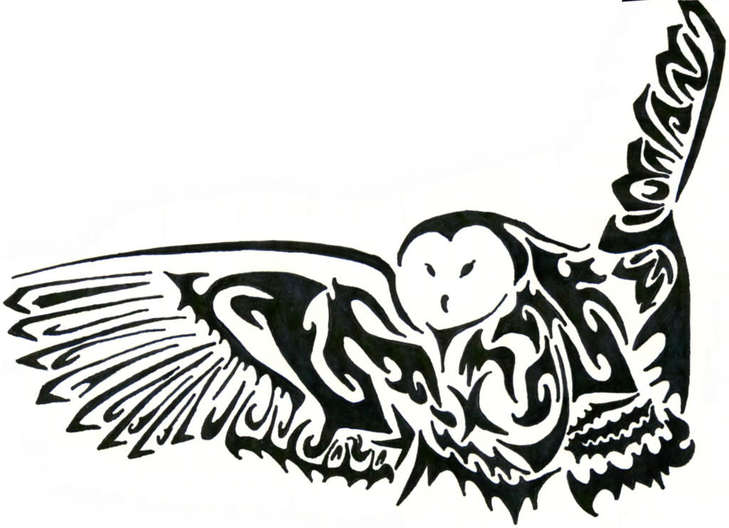 Tribal Owl Drawing