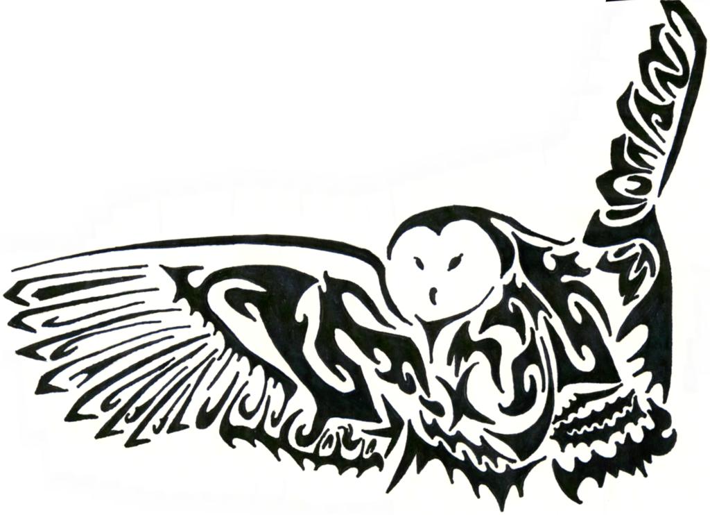 Tribal Owl Drawing