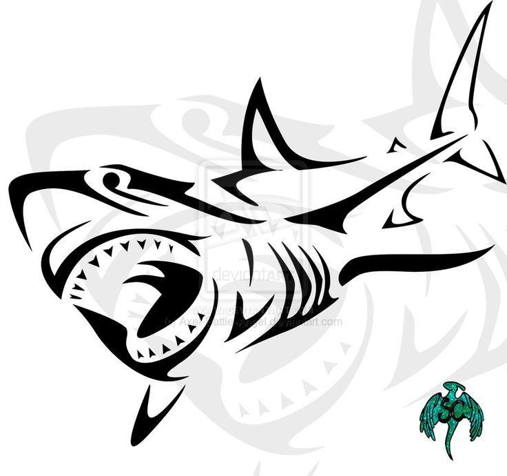 736x690 shark tattoos shark drawing diving tatto tattoo shark tribal shark