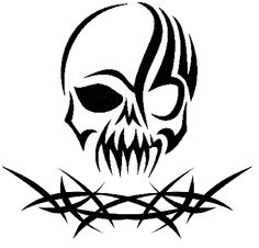 Tribal Skull Drawings
