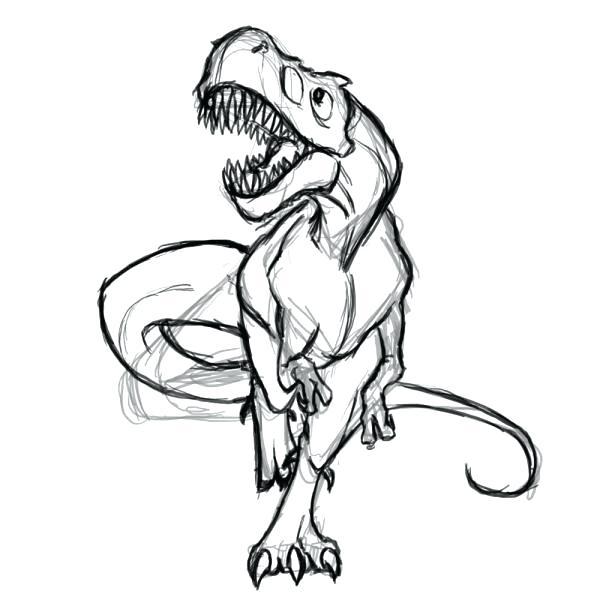 600x600 Dinosaur Drawings