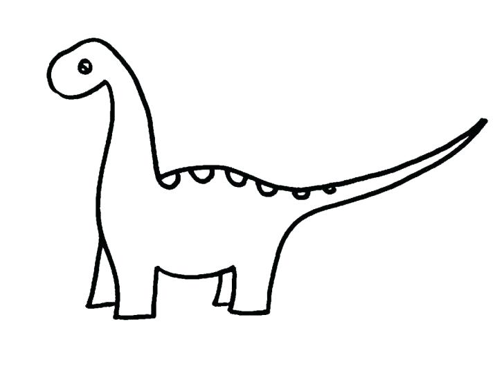 728x546 How To Draw A Simple Dinosaur Cartoon Dinosaurs Draw Simple