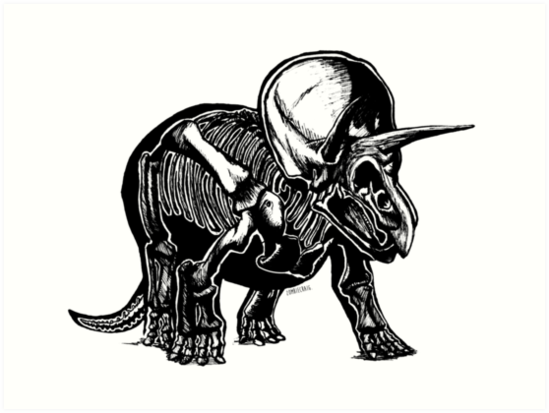 549x413 Triceratops Art Prints