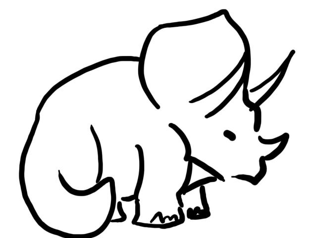640x480 Triceratops Clipart
