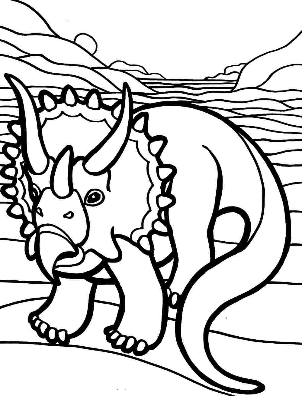 1000x1308 Triceratops Coloring Pages
