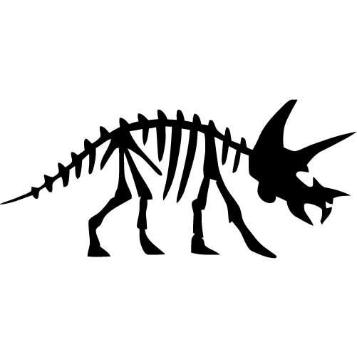 501x501 Triceratops Dinosaur Fossil Small Vinyl Wall Decal