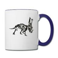190x190 Triceratops Skeleton Sketch Vector Cool Drawing Enamel Mug