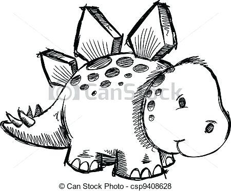 450x373 Stegosaurus Drawing
