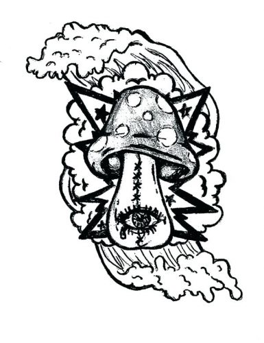 Trippy Shroom Drawings | Free download on ClipArtMag