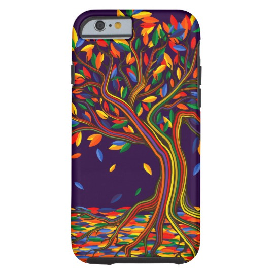 540x540 rainbow tree with colorful leaves illustration art case mate